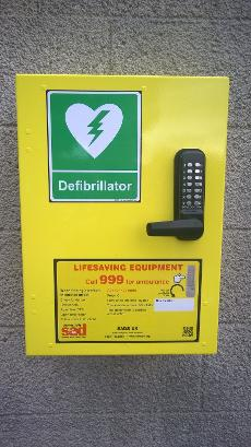 A defibrillator available for use by any member of the public who needs it, was installed on site in 2015 in memory of Mrs Jean Grant (Michelles' mum) If someone is showing signs of cardiac arrest, phone 999 and give your location - they will inform of the nearest sited defibrillator machine. This one is handy obviously for the towpath but also Watermead Country Park and local areas